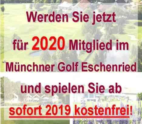 Spielen Sie ab sofort 2019 kostenlos bei Abschluss einer Mitgliedschaft ab 2020!