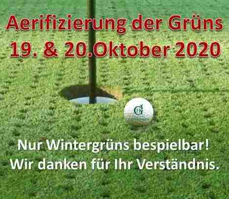 19. & 20.Oktober 2020 – Aerifizierung der Grüns im Golfpark Gut Häusern