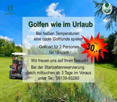 Ihre Sommer-Golfrunde mit Cart im Golfpark Gut Häusern