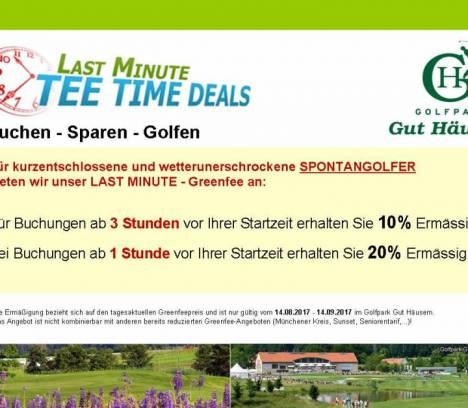 Last Minute Teetime Deals im Golfpark Gut Häusern
