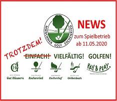 NEWS zum Spielbetrieb ab 11.Mai 2020