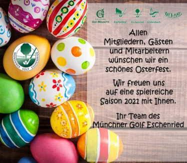 Ostergruß vom Münchner Golf Eschenried