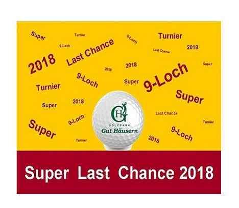 Letzte Super Chance 9-Loch für's Handicap im Golfpark Gut Häusern