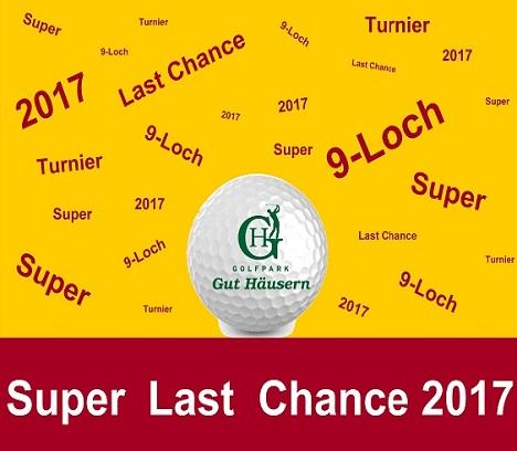 Super Last Chance -9 Loch Turnier im Golfpark Gut Häusern