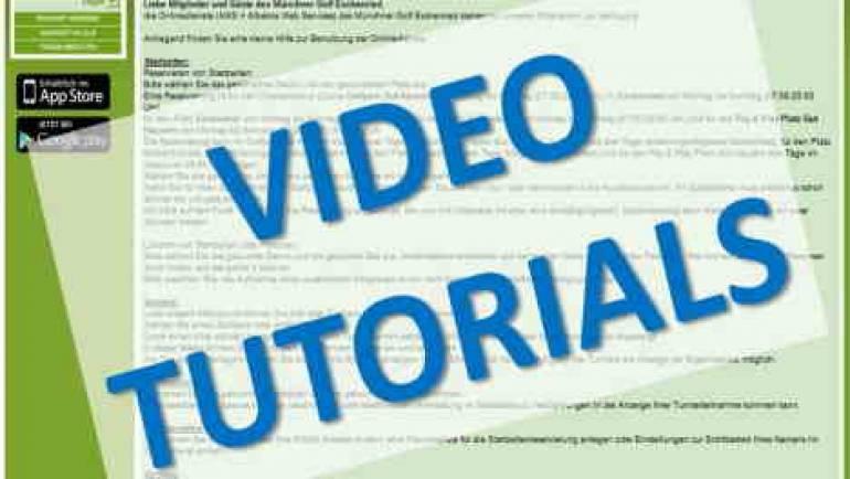 Online Buchung Tutorials für Mitglieder