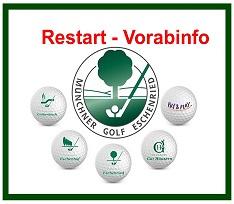 Öffnung der Golfplätze – RESTART Vorabinfo!