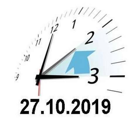 Achtung – Zeitumstellung am 27.Oktober 2019!