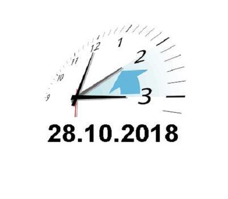 Achtung – Zeitumstellung am 28.Oktober 2018!