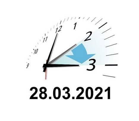 Achtung – Zeitumstellung am 28.03.2021