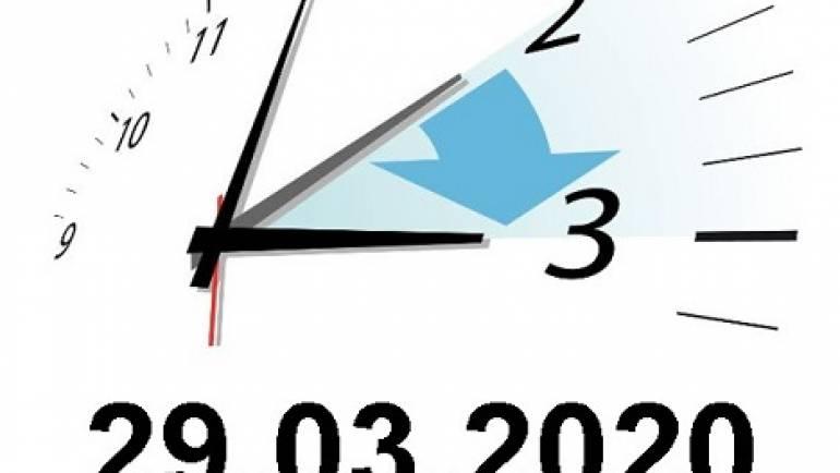 Bitte beachten Sie die Zeitumstellung am 29.März 2020!