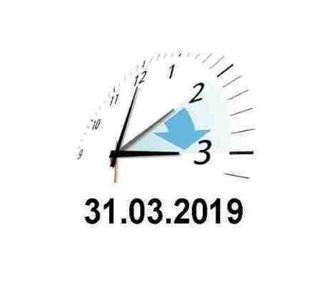 Achtung-Zeitumstellung am 31.März 2019!